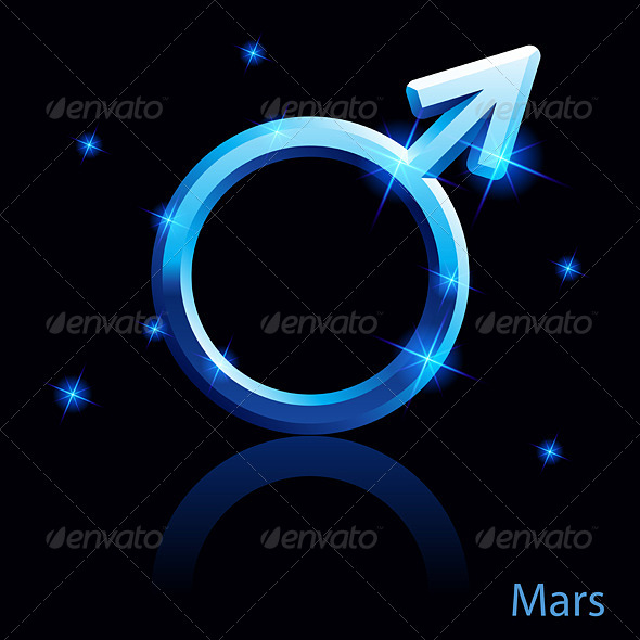 Mars Sign. - Decorative Symbols Decorative