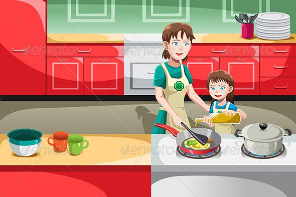 Mother Daughter Cooking - People Characters