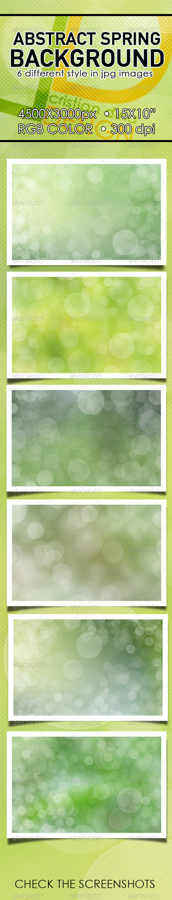 Abstract Spring Background Pack I. - Backgrounds Graphics