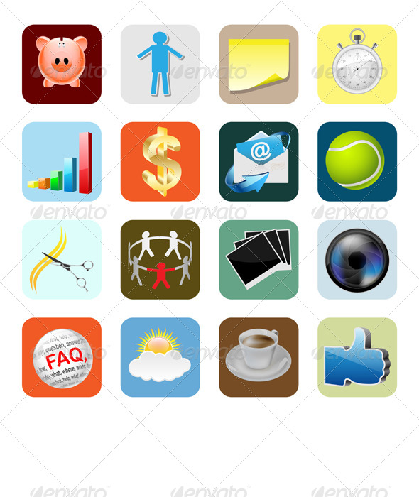 Web Icons Internet  - Business Conceptual