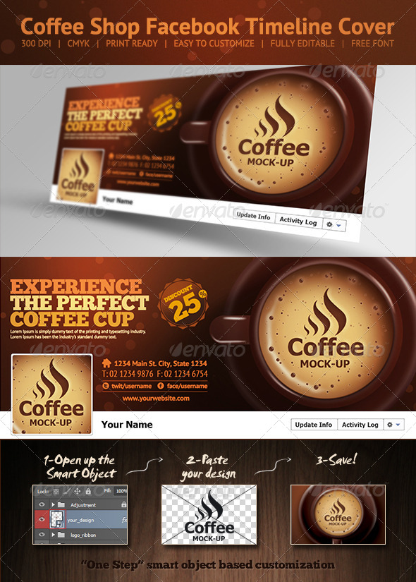 Coffee Shop Facebook Timeline Cover - Facebook Timeline Covers Social Media