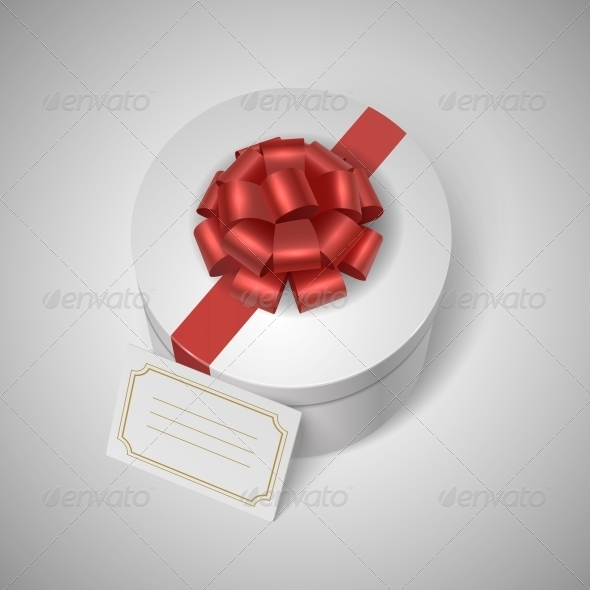 Gift Box with Ribbon and Card - Miscellaneous Seasons/Holidays