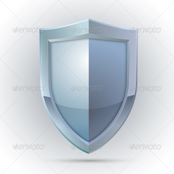 Blank Shield Protection Emblem - Computers Technology