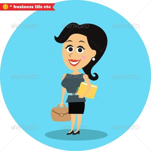Office Girl - People Characters