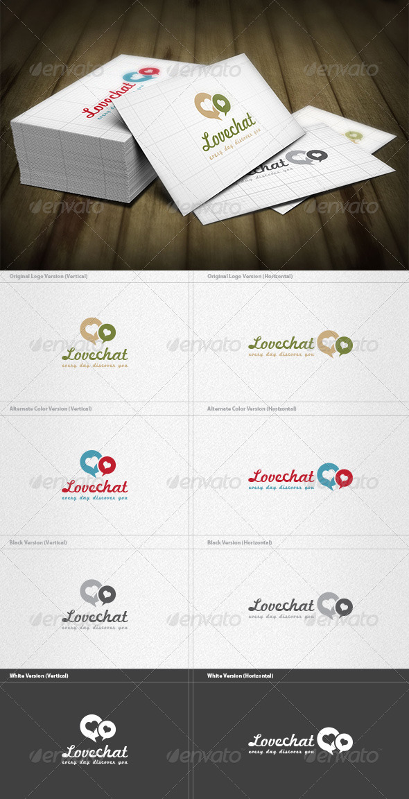 Love Chat Logo - Symbols Logo Templates