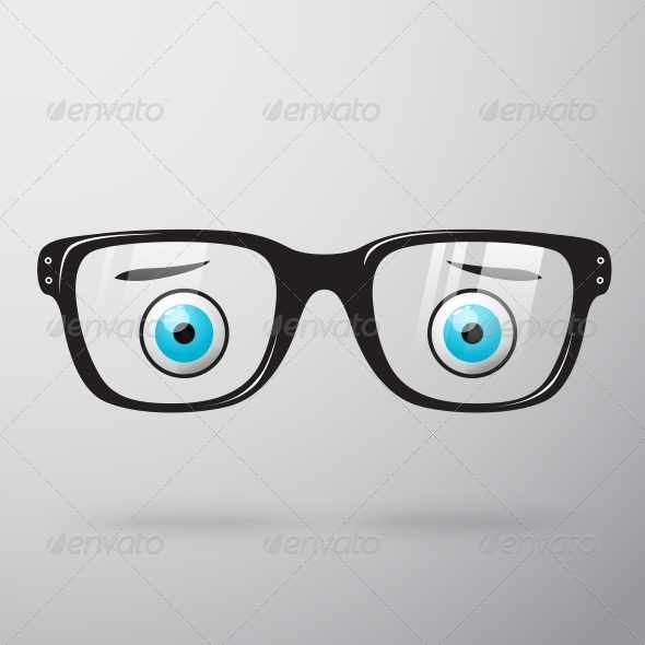 Worried Glasses with Eyes - Web Technology