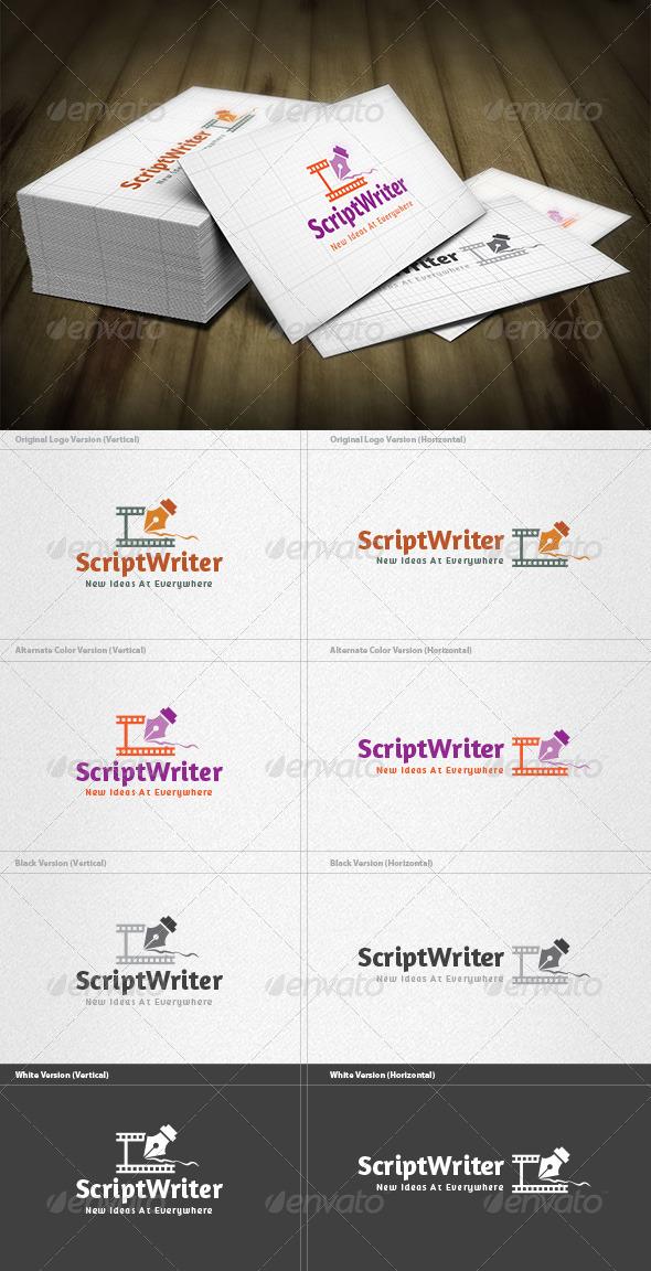 Script Writer Logo - Objects Logo Templates