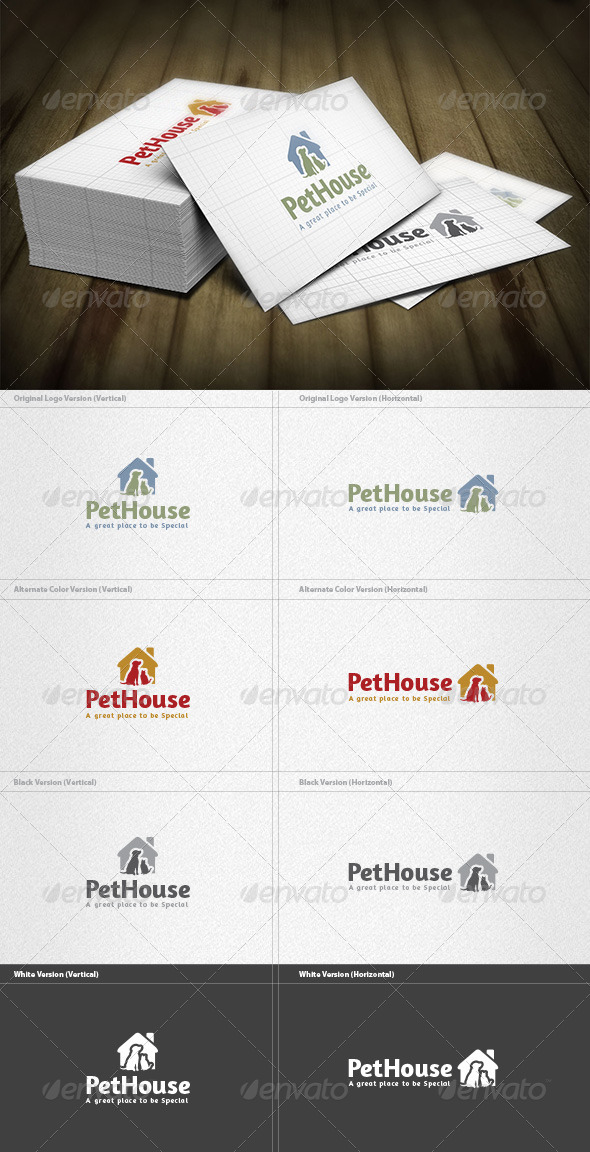 Pet House Logo - Animals Logo Templates