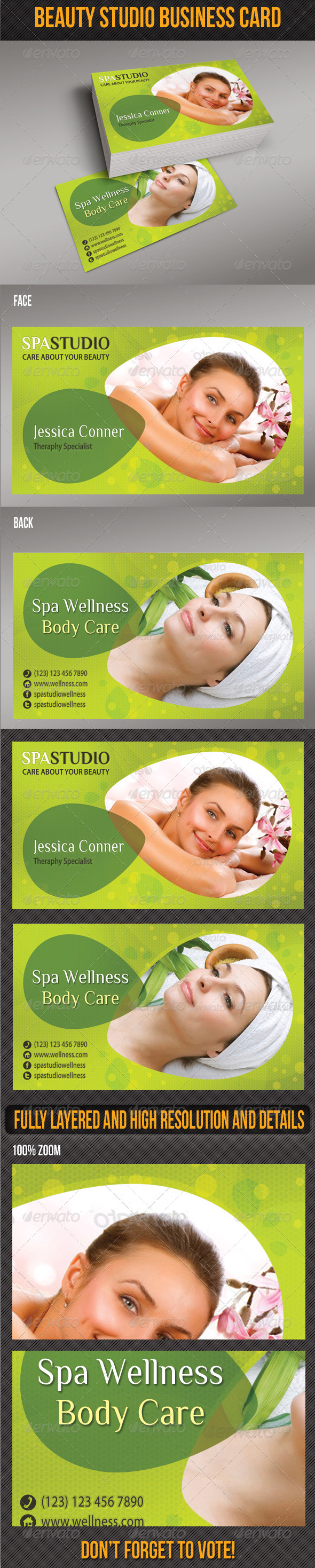 Spa Studio Business Card 02 - Creative Business Cards