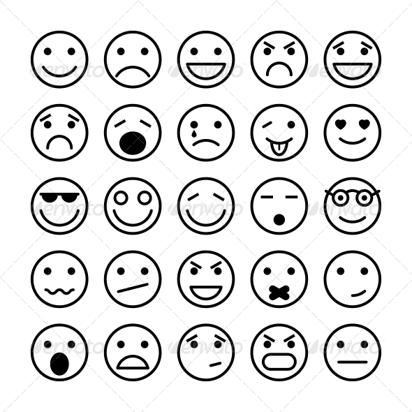 Smiley Faces for Website Design - Web Icons