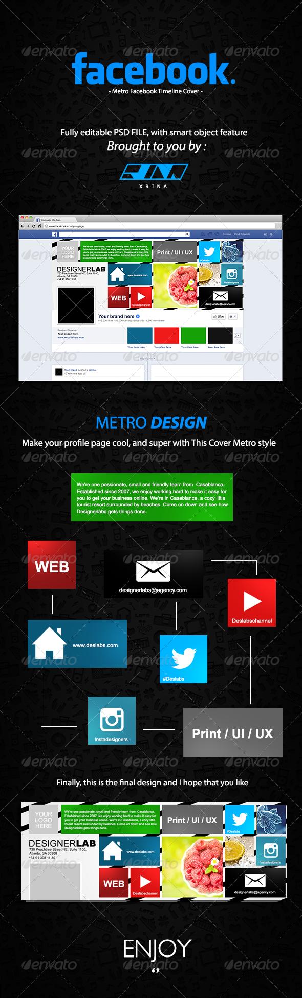 Metro Facebook Timeline Cover - Facebook Timeline Covers Social Media