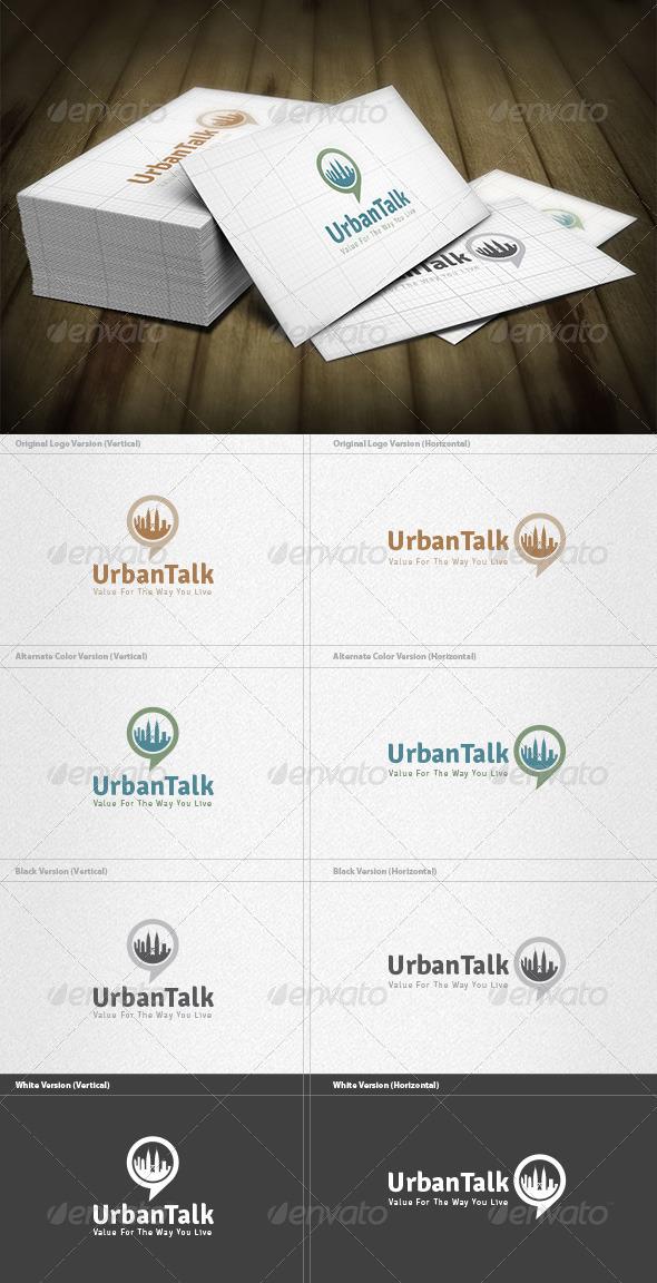 Urban Talk Logo - Buildings Logo Templates