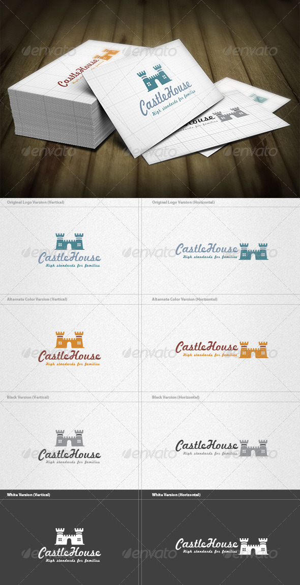 Castle House Logo - Buildings Logo Templates