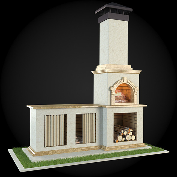 Garden Fireplace 001 - 3DOcean Item for Sale