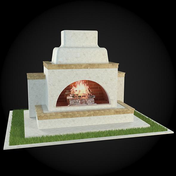 Garden Fireplace 002 - 3DOcean Item for Sale