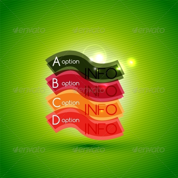 Colorful Bright Light Shiny Option Banner - Concepts Business