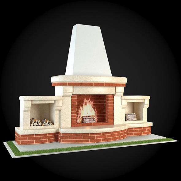 Garden Fireplace 006