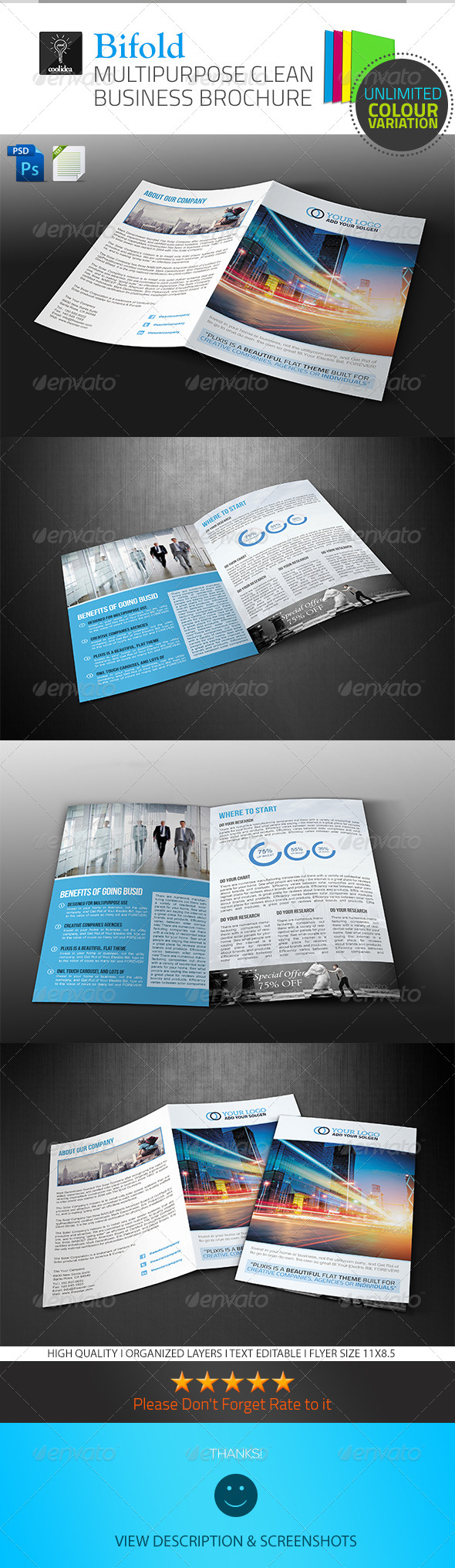A4 Business Brochure/ Bifold - Corporate Brochures