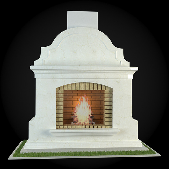 Garden Fireplace 007 - 3DOcean Item for Sale