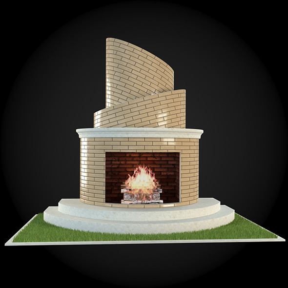 Garden Fireplace 009 - 3DOcean Item for Sale