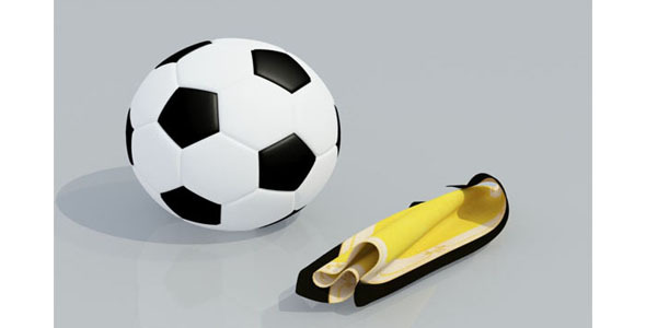FootBall 3D Model  - 3DOcean Item for Sale