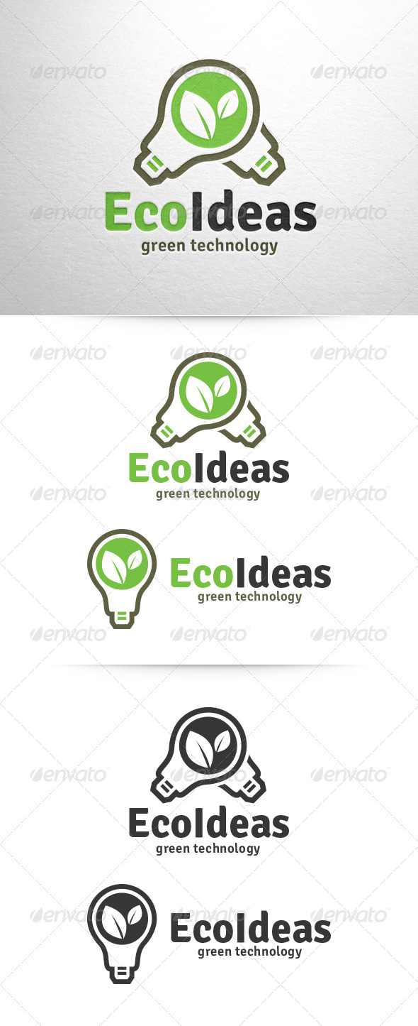 Eco Ideas Logo Template - Nature Logo Templates