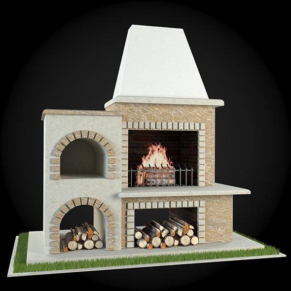Garden Fireplace 010 - 3DOcean Item for Sale
