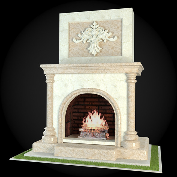 Garden Fireplace 011 - 3DOcean Item for Sale