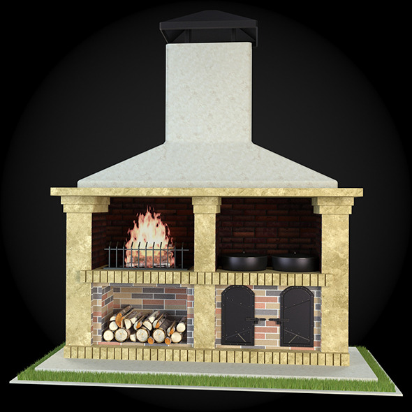 Garden Fireplace 012 - 3DOcean Item for Sale