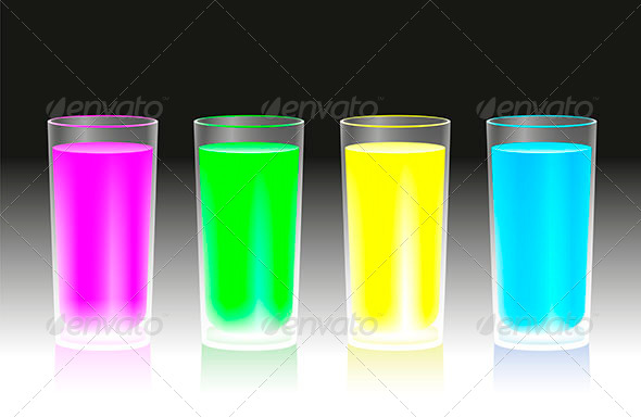 Fluorescent Beverages - Food Objects