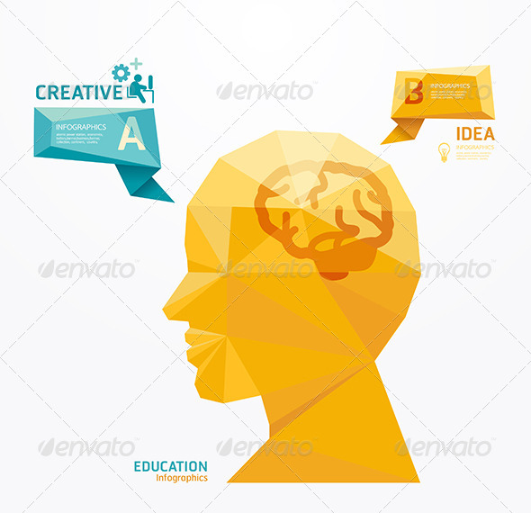 Geometric Modern Design Head Style - Education Backgrounds