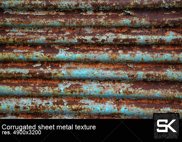 Corrugated Sheet Metal - Metal Textures