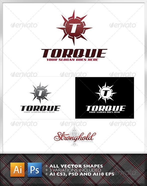 Torque Shield Logo Template - Crests Logo Templates