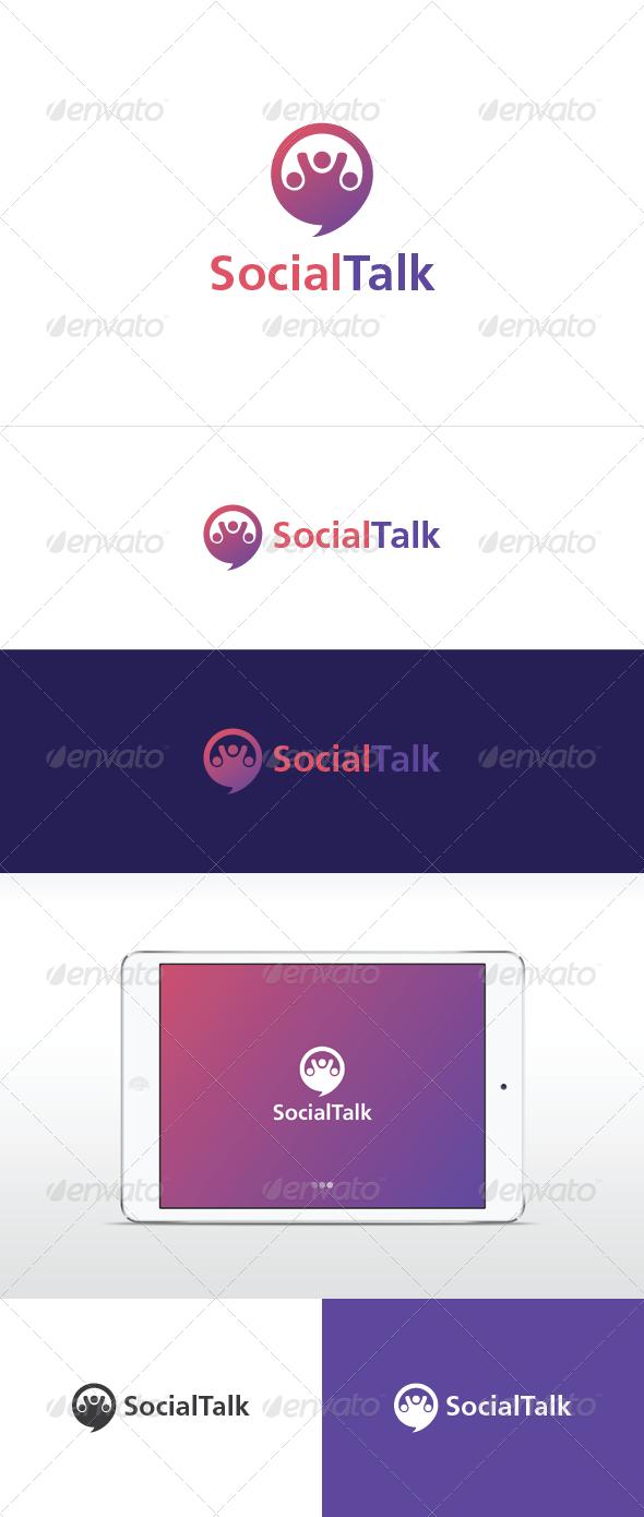 Social Talk - Symbols Logo Templates