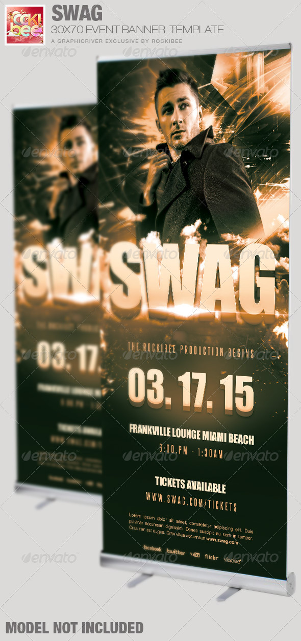 Swag Event Banner Signage Template - Signage Print Templates