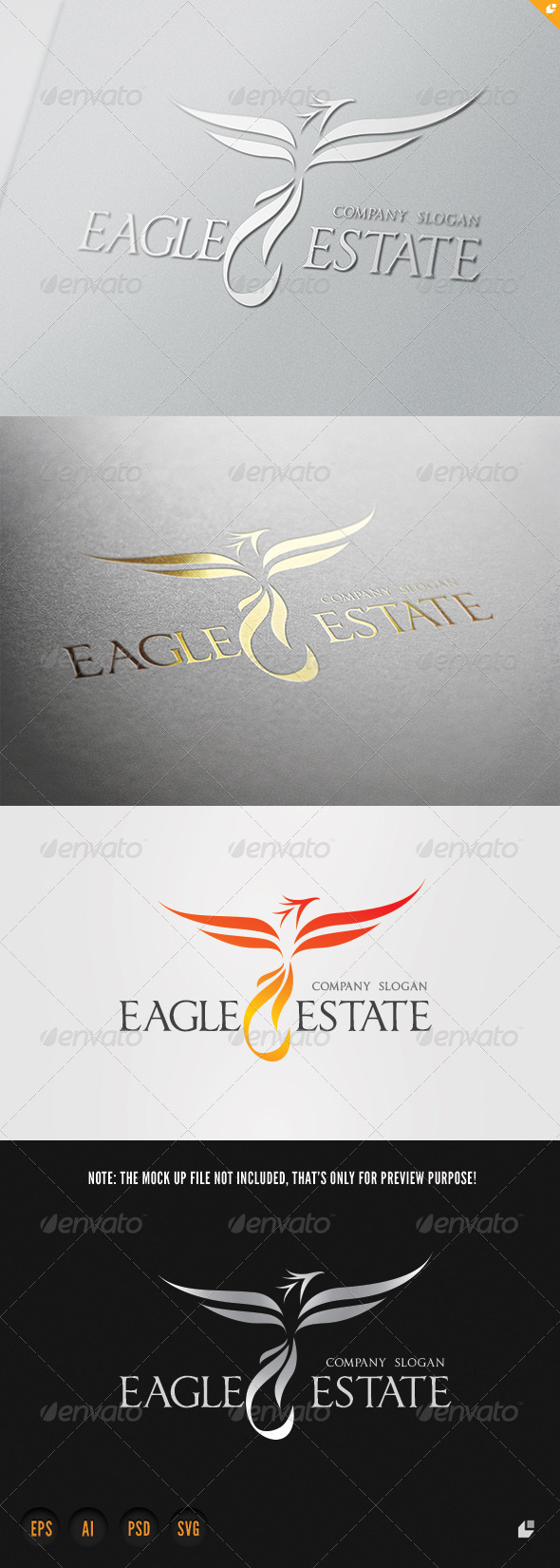 Eagle Estate Logo - Crests Logo Templates