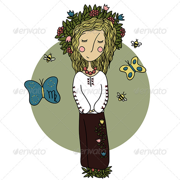 Virgo Girl - Miscellaneous Vectors