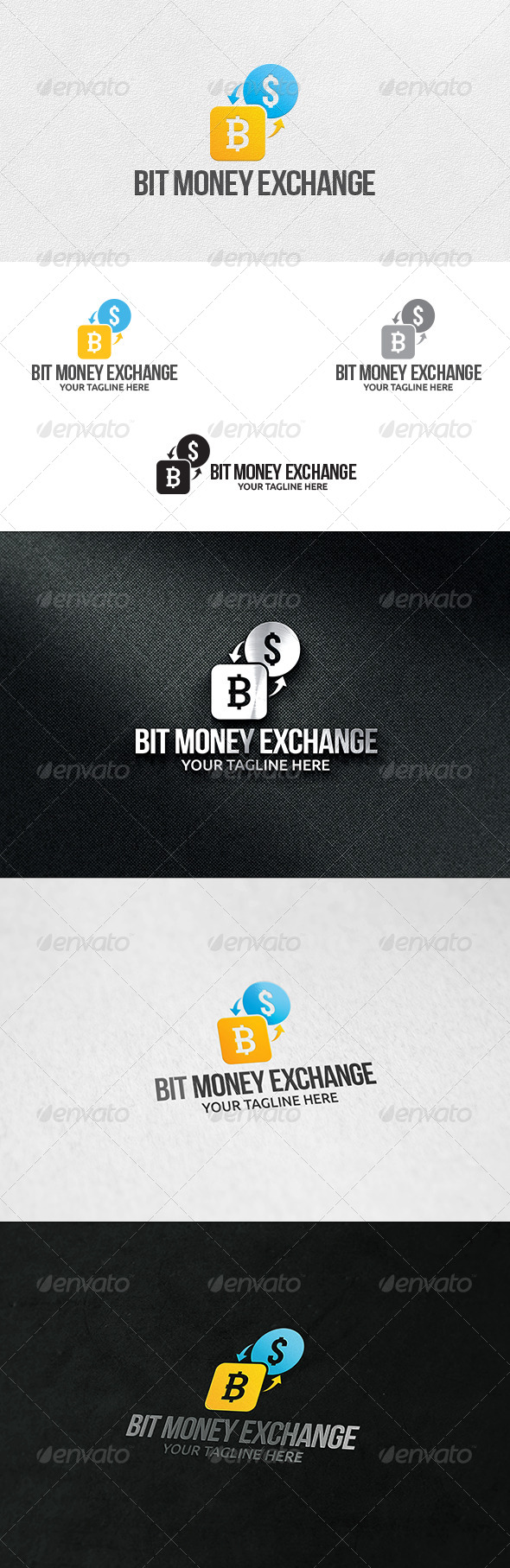 Bit Money Exchange - Logo Template - Symbols Logo Templates
