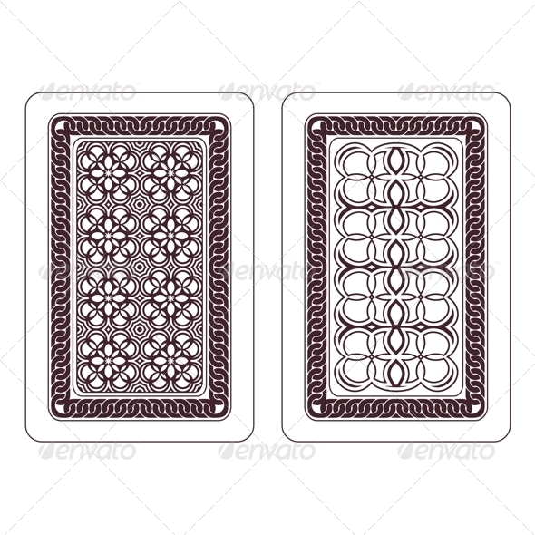 Design of Playing Cards - Patterns Decorative