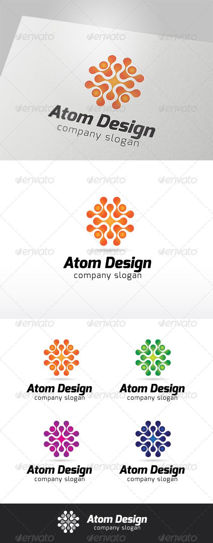 Atom Design Logo - Symbols Logo Templates