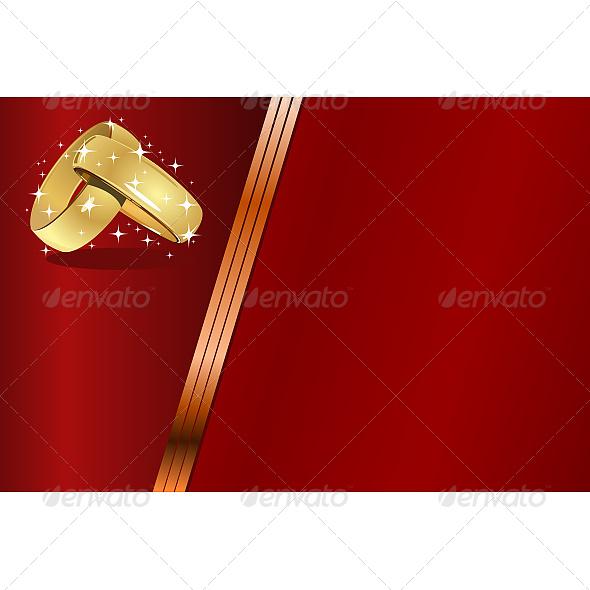 Red Wedding Card - Weddings Seasons/Holidays