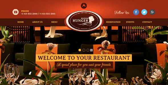 Restaurant / Cafe / Bar Muse Website Theme by Fadeink | ThemeForest