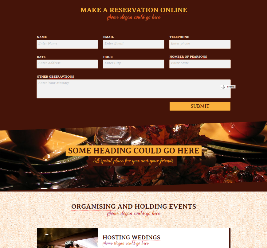 Restaurant / Cafe / Bar Muse Website Theme