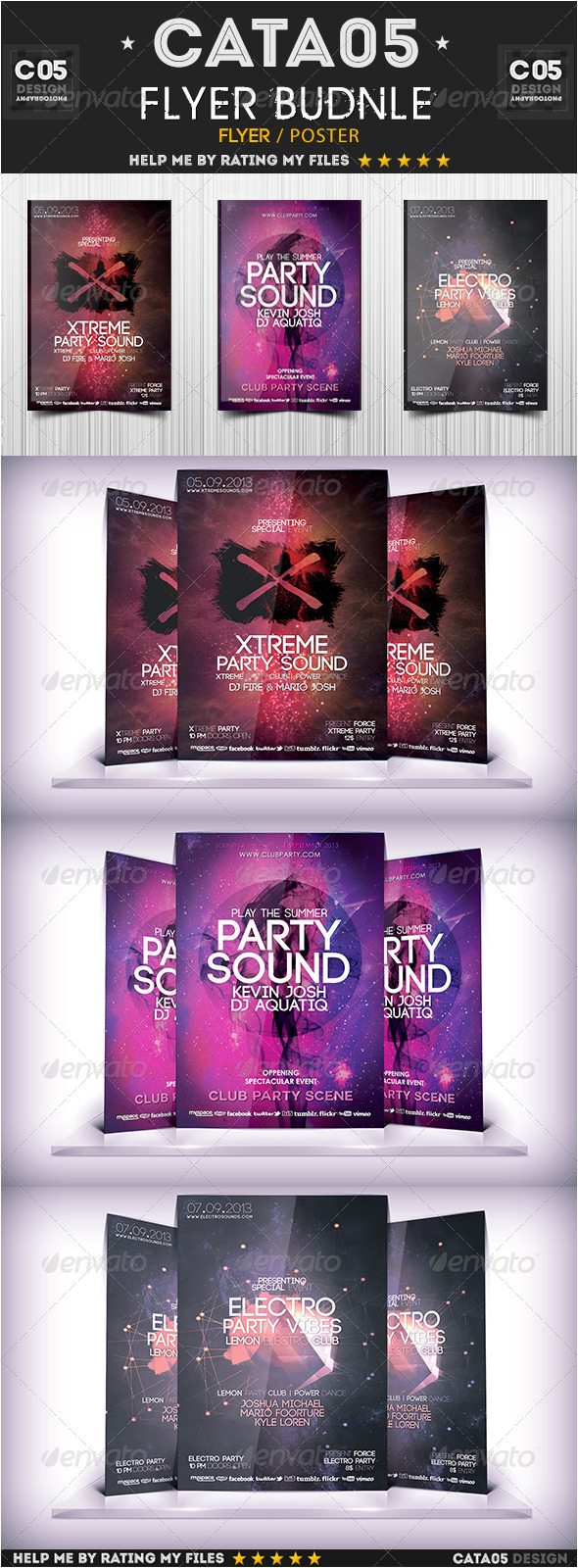 Flyer Bundle Pack 7 - Clubs & Parties Events