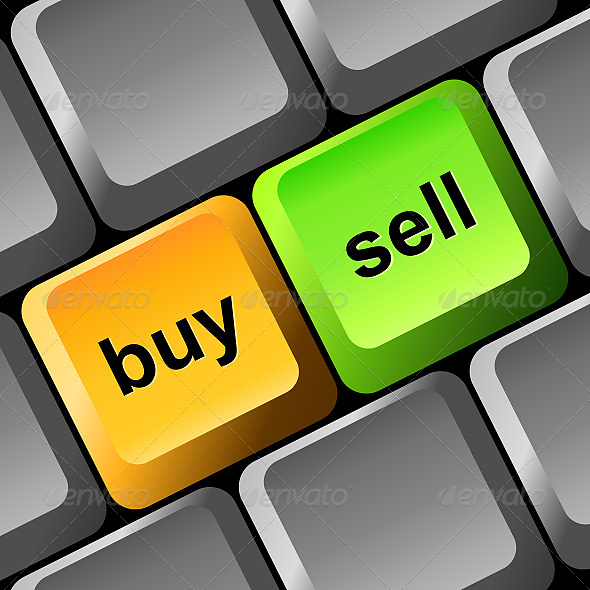 Buy and Sell Button - Commercial / Shopping Conceptual