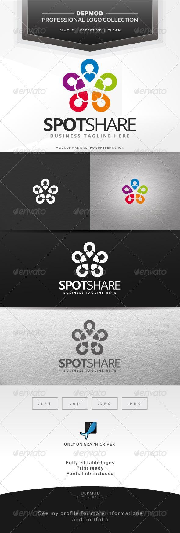 Spot Share Logo - Symbols Logo Templates