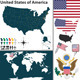 Map of United States of America - GraphicRiver Item for Sale