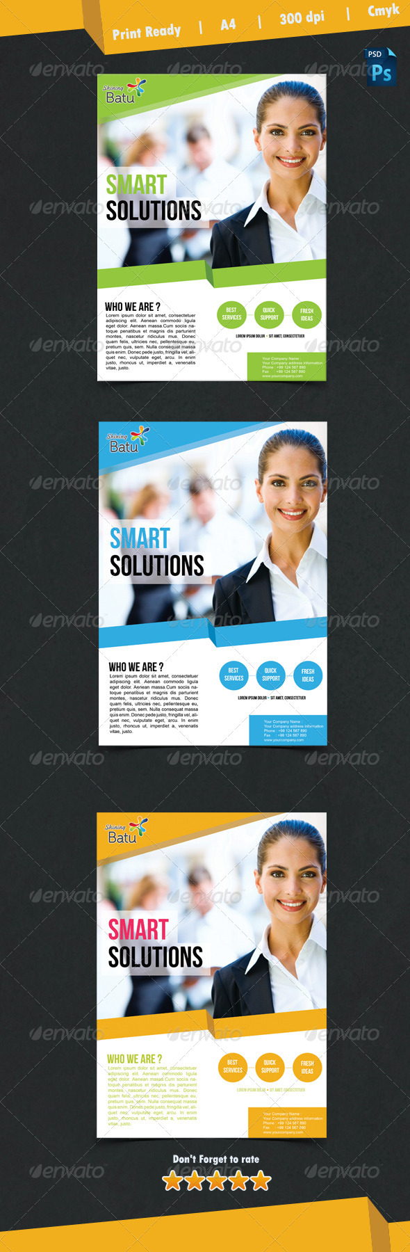 Simple Business Vol.1 - Corporate Flyers