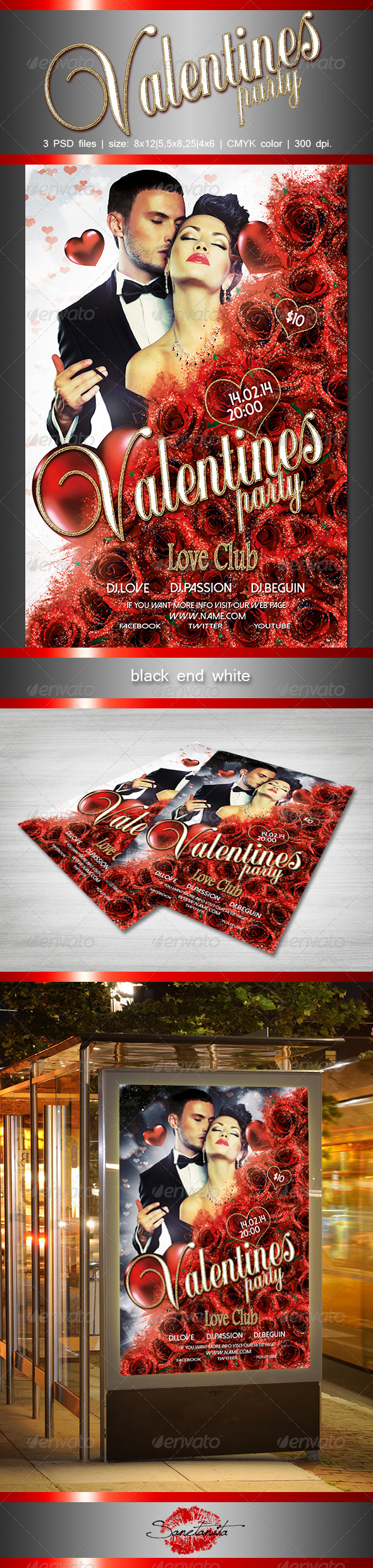 Valentines Party Flyer - Holidays Events