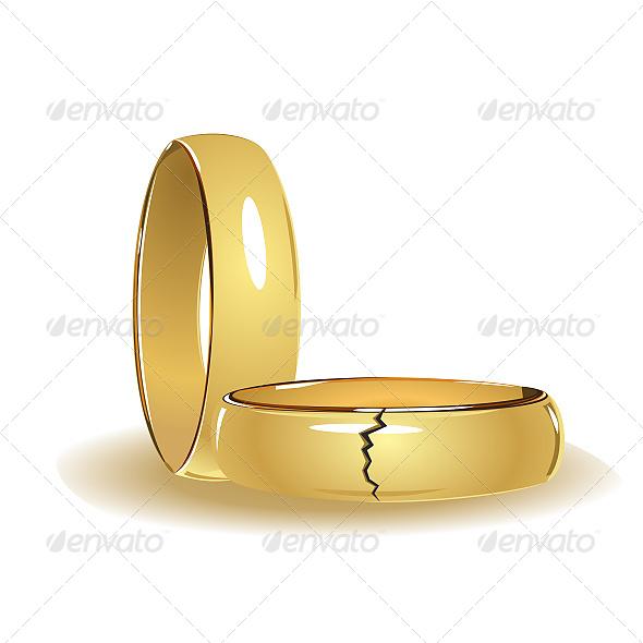 Broken Wedding Rings - Weddings Seasons/Holidays